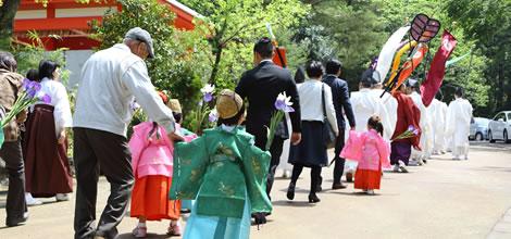 春季大祭稚児さん募集のイメージ
